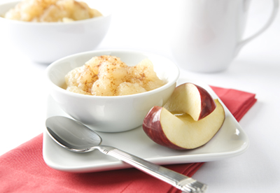 Bowl of Apple Sauce and Apple Slices